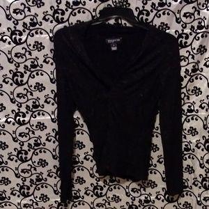 Sparkly Black V Neck Sweater